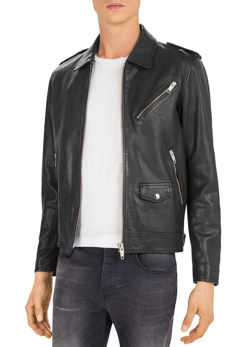 The Kooples Washed Lamb Leather Jacket