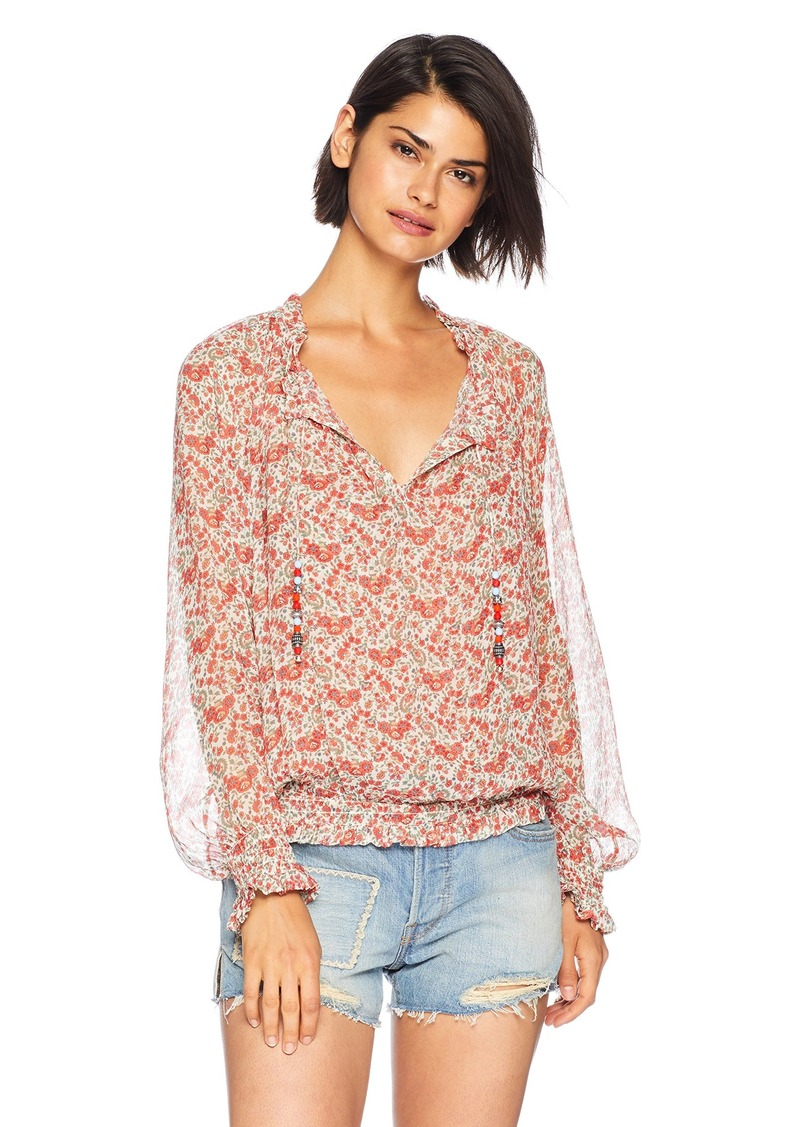 c976dd5047 The Kooples The Kooples Women's Vintage Floral Print TOP red/White ...