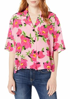 The Kooples Women's Women's Button Down Blouse with a Peony Flower Print