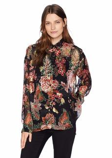 The Kooples Women's Women's Floral and Lurex Button Down Shirt