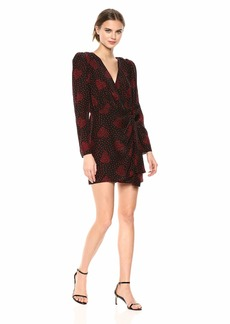 The Kooples Women's Women's Heart Bouquet Print Wrap Dress