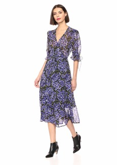 The Kooples Women's Women's Hortensia Print Dress blackpurple