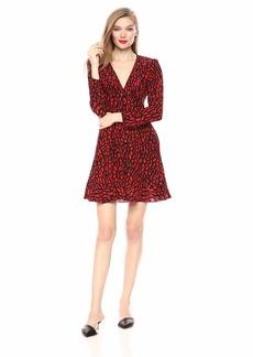 The Kooples Women's Women's Leopard Print Dress Black/red