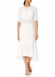 The Kooples Women's Women's Long Dress with mid-Length Sleeves ECR01