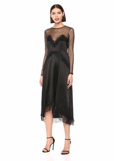 The Kooples Women's Women's Long Laced Silk Slip Dress