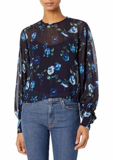 The Kooples Women's Long-Sleeved Top in a Floral Print