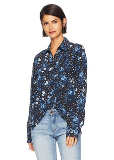 The Kooples Women's Women's Micro Floral Button Down Blouse