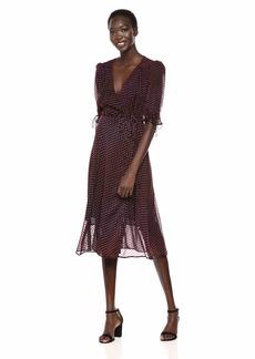 The Kooples Women's Women's Polka Dot Printed Long Wrap Dress