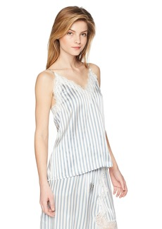 The Kooples Women's Women's Satin Stripes and Lace Shirt