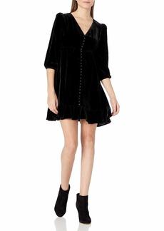 The Kooples Women's Women's Short Button-Down Velvet Dress