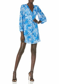 The Kooples Women's Women's Short Printed Button-Down Dress with Long Sleeves