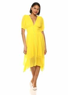 The Kooples Women's Women's Short Sleeve Maxi Dress in Georgette