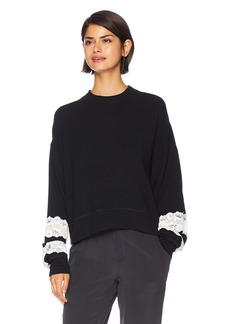 The Kooples Women's Women's Sweet Fleece and lace Sweatshirt