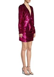 The Kooples V-Neck Sequin Mini Dress