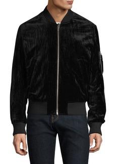 The Kooples Velvet Bomber Jacket