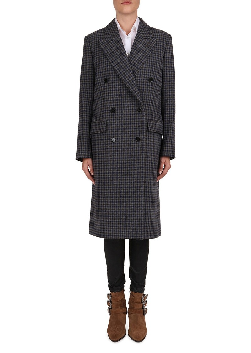 The Kooples Wool-Blend Check Print Wool