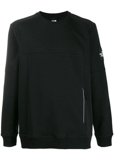 The North Face embroidered-logo panelled sweatshirt