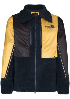 The North Face fleece panelled zip-front jacket
