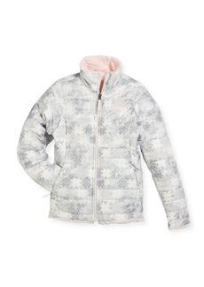 The North Face Girls' Reversible Mossbud Swirl Jacket  White  Size XXS-XL