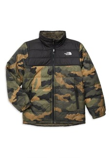 The North Face Little Boy's & Boy's Reversible Faux Sherpa Puffer Jacket