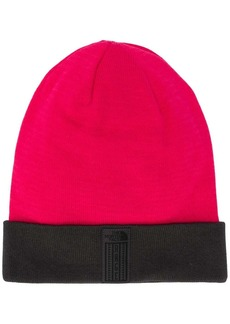 The North Face logo knitted beanie hat