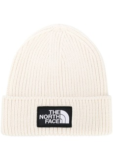 The North Face logo patch beanie hat
