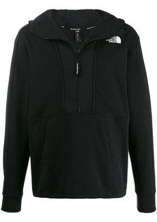 The North Face logo print zipped hoodie