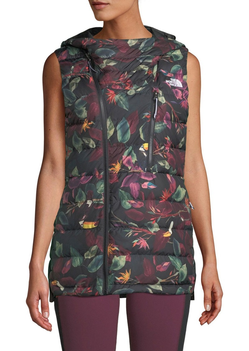 bd87495b3cc5 The North Face Niche Hooded Floral Puffer Vest