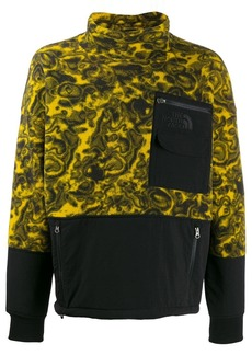 The North Face paint swirl fleece sweatshirt