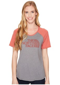 The North Face Short Sleeve 1/2 Dome Graphic Tri-Blend Baseball Tee