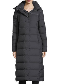 The North Face Cryos Long Zip-Front Quilted Puffer Parka Coat