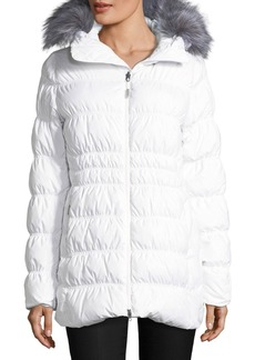The North Face Cryos Stretch Down Puffer Jacket w/ Faux-Fur