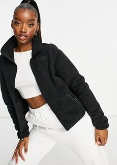 The North Face Dunraven sherpa fleece jacket in black