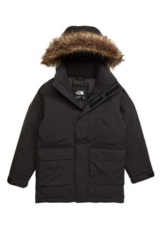 The North Face Faux Fur Trim Down Parka (Big Boys)