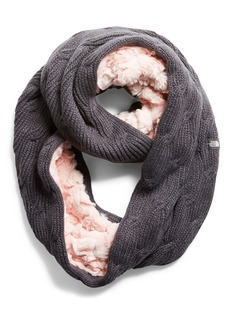 The North Face Furry Faux Fur & Knit Infinity Scarf (Girls)