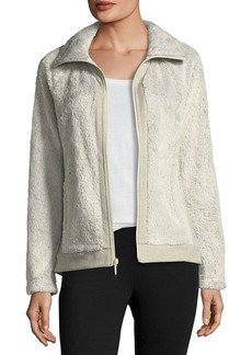 The North Face Fuzzy Fleece Zip-Front Long-Sleeve Jacket