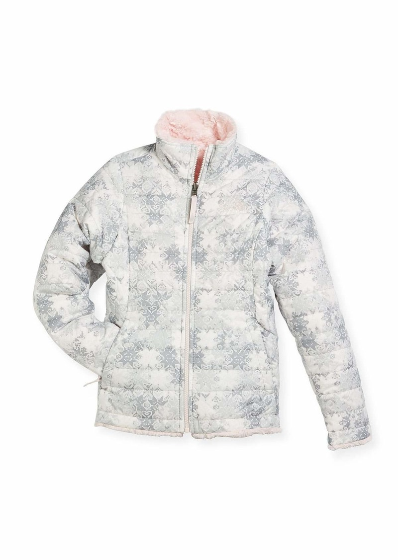 b44d8fef4a4 The North Face Girls  Reversible Mossbud Swirl Jacket White Size XXS ...