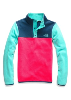 The North Face Glacier Quarter Snap Fleece Pullover (Big Girls)