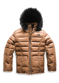 The North Face Gotham 2.0 Water Resistant 550-Fill-Power Down Jacket with Faux Fur Trim (Big Girls)