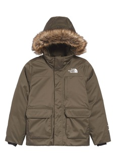The North Face Kids' Greenland Waterproof 550-Fill-Power Down Jacket with Faux Fur Trim (Big Girl)