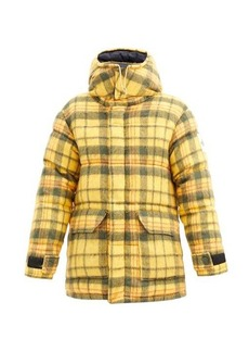 The North Face Heritage logo-patch tartan quilted down jacket