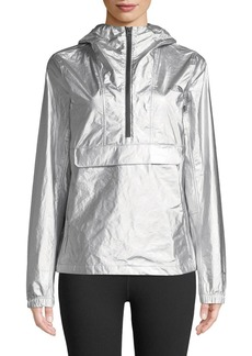 The North Face Hooded Wind-Resistant Metallic Anorak