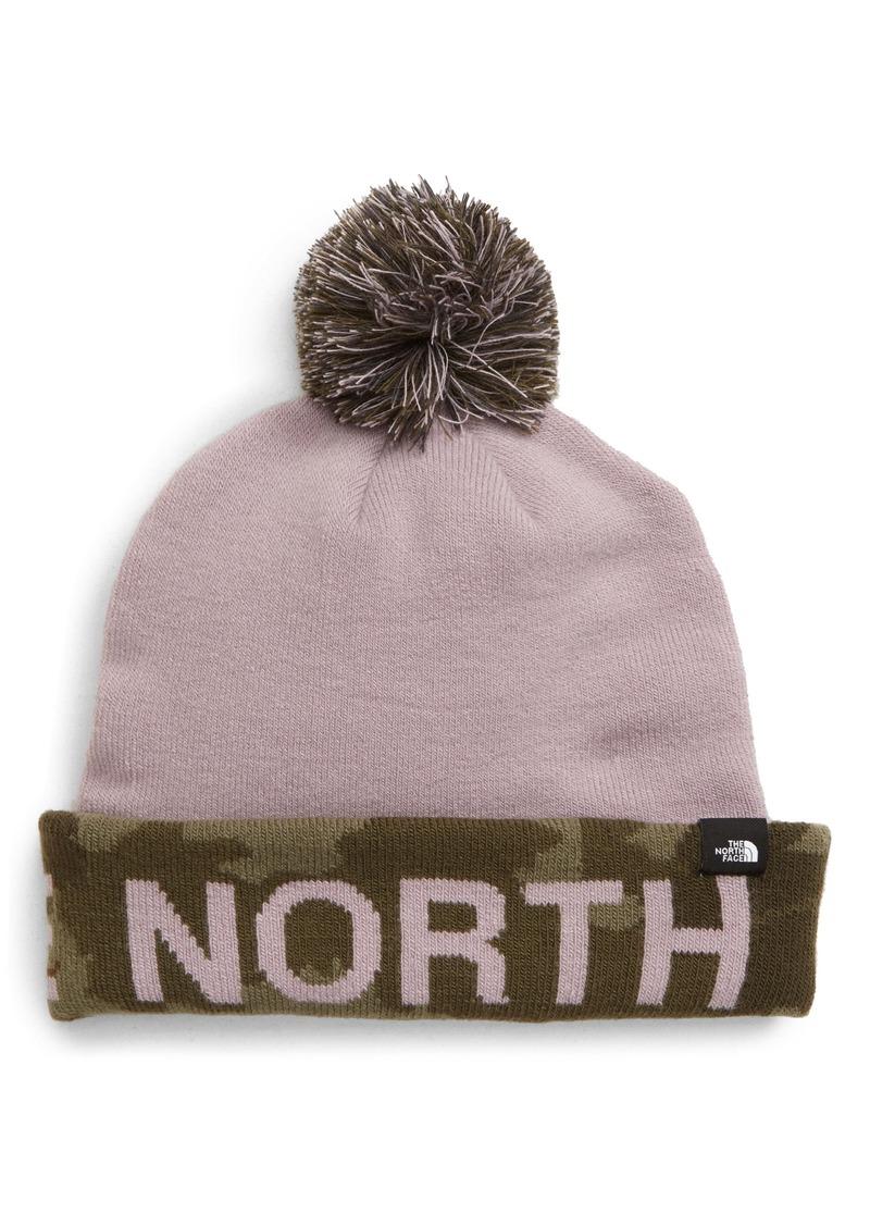 The North Face Logo Cuff Pom Beanie (Kids)