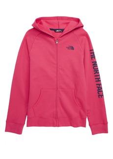 The North Face Logowear Full Zip Hoodie (Big Girls)