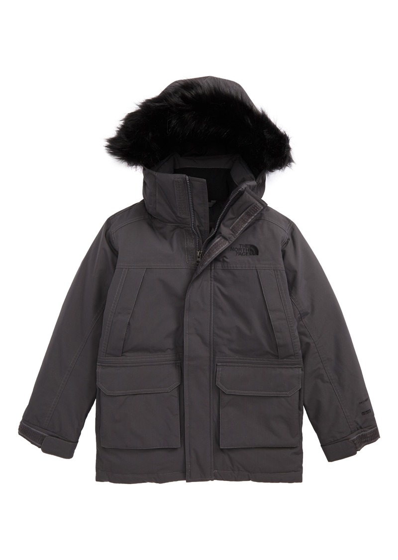 872c6dfb1cc2 The North Face McMurdo Waterproof Down Parka with Faux Fur Trim (Big Boys)