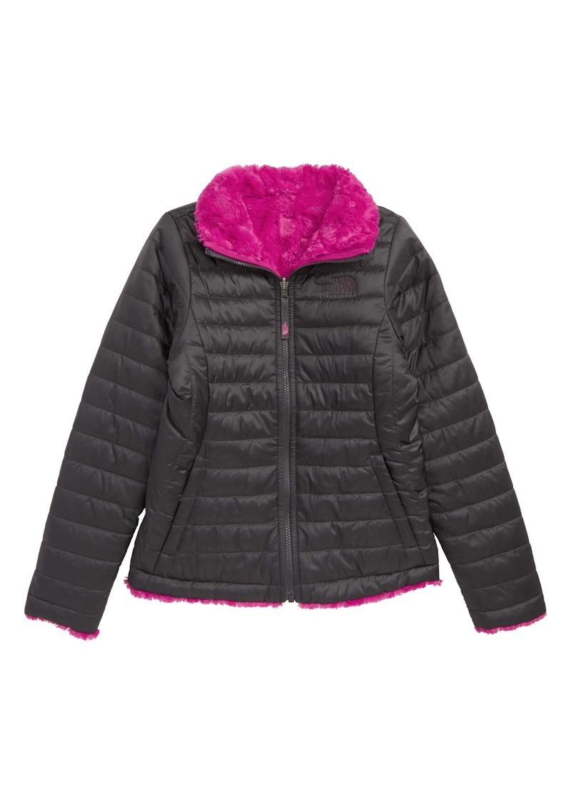 The North Face Mossbud Swirl Reversible Water Repellent Heatseeker™ Jacket (Big Girls)