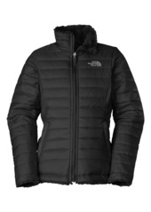 The North Face 'Mossbud Swirl' Reversible Water Repellent Jacket (Little Girls & Big Girls)