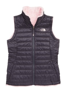 The North Face Mossbud Swirl Reversible Water Repellent Vest (Big Girls)