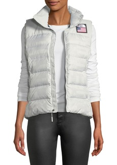 The North Face Nuptse Standard Full-Zip Down Puffer Vest with Star-Print Lining