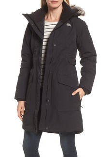 The North Face Outer Boroughs Waterproof 550-Fill Power Down Parka with Faux Fur Trim